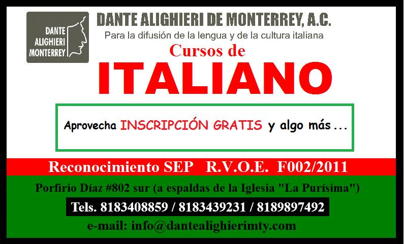 Cupón de descuento Dante Alighieri Monterrey